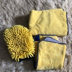 Car cleaning towel set